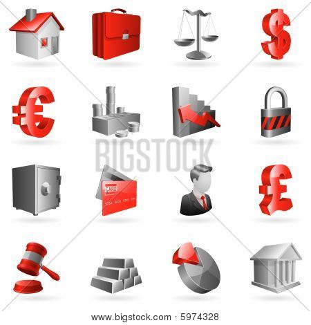 Vector business icons.