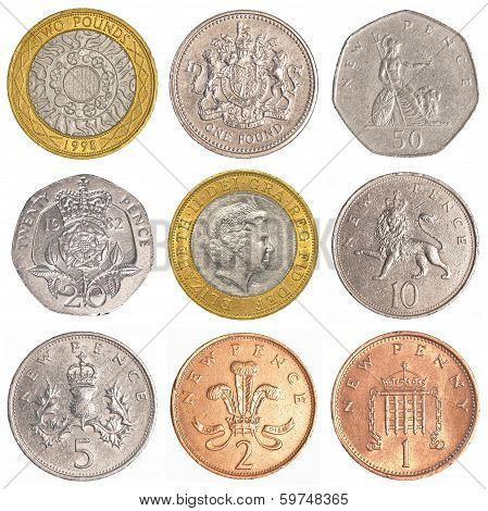 England Circulating Coins Collection