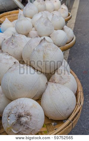 Peeled Young Coconuts