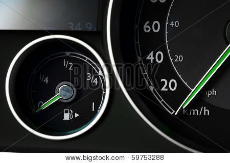 Fuel Gauge And Speedometer