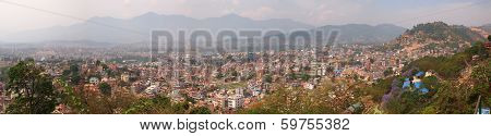 Panoramic Overview Of The Nepalese Capital Kathmandu
