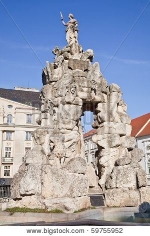 Brno. A Fountain Is Parnassus. 1695 Year