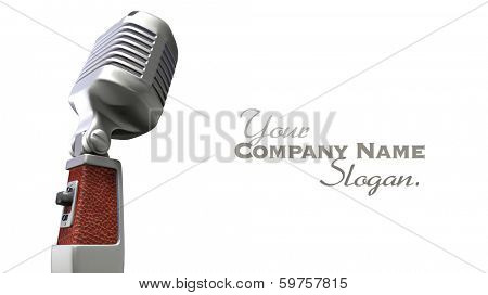 Vintage chrome and leather microphone