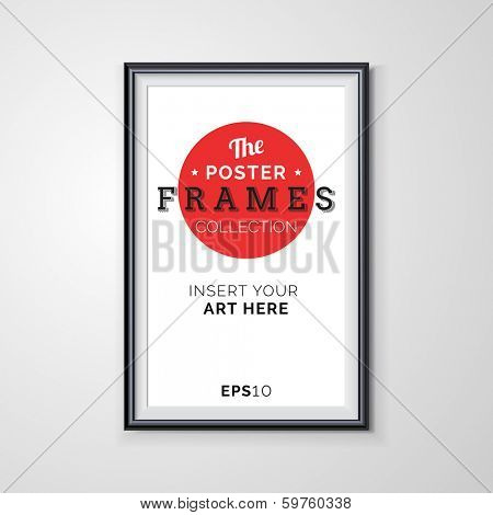 Vector poster frame with transparent shadows.