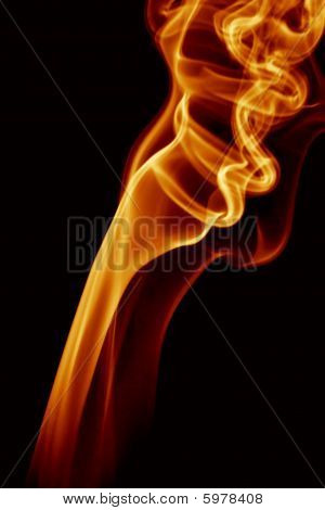 abstract background of beautiful color smoke waves poster
