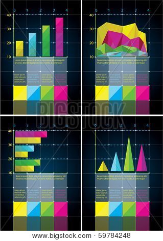 business graphs for info-graphic presentation