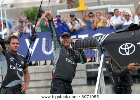Dean Barker  & Grant Dalton During 32Nd America's Cup