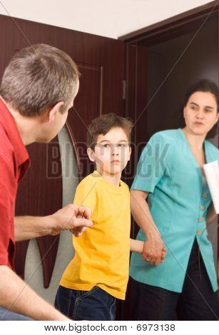 Boy Between His Parents