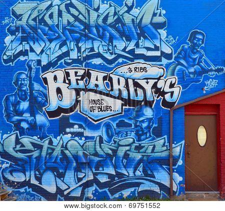 Mural Blues downtown Halifax
