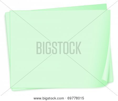 Illustration of the empty paper templates on a white background