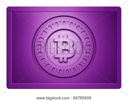 Purple Metallic Bitcoin Plate