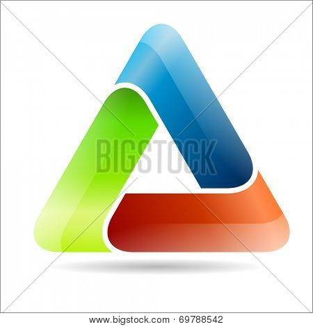 Abstract triangular sign