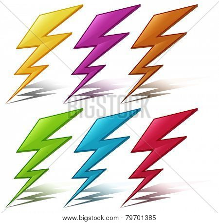 Illustration of many color lightening