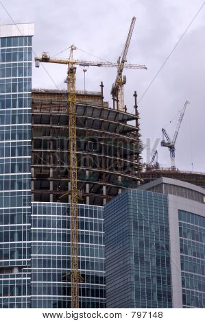 Construction of Moscow business center (2)