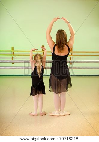 Preschool Child Dance Lesson In Studio