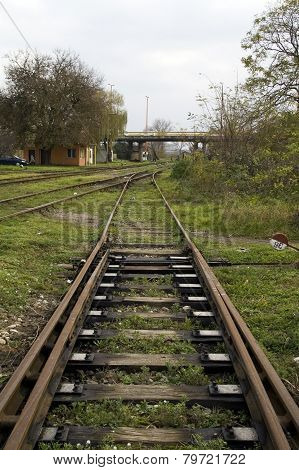 The Crossover On The Railway