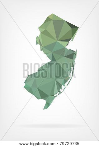 Low Poly map of New Jersey state