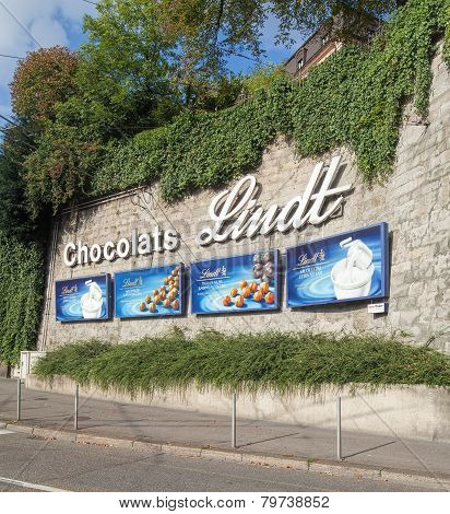 Chocolats Lind Advertisement