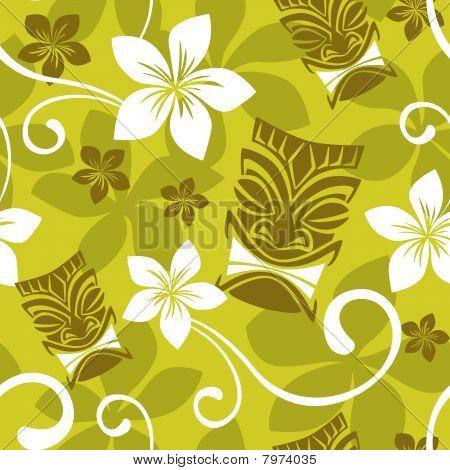 Seamless Luau Tiki Pattern