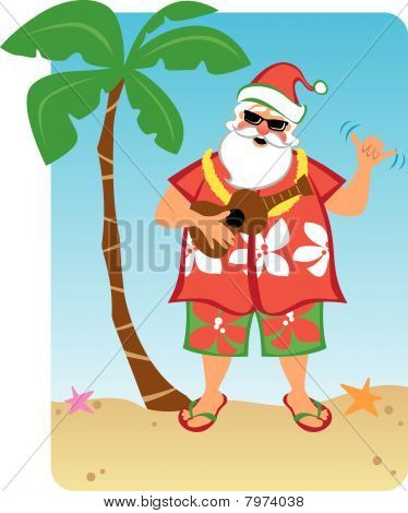 Noël hawaïen du père Noël