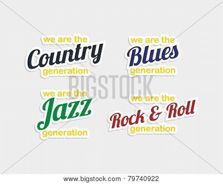 Music Genre Sticker