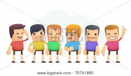 Boys In Colored T-shirts