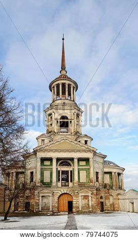 Belfry Of Boris And Gleb Monastery In Torzhok, Winter Time