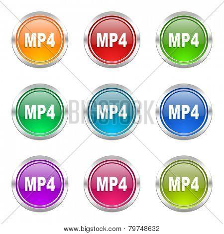 mp4 icons set