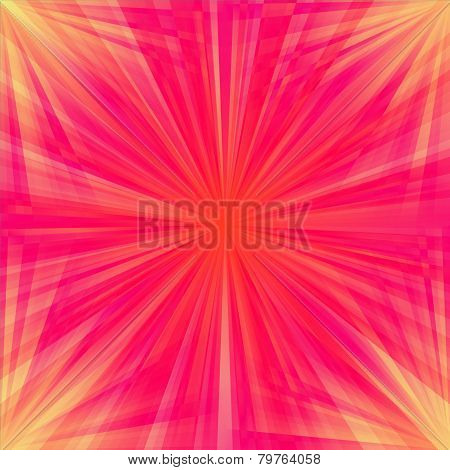 Red regular rays seamless pattern - computer generated background poster