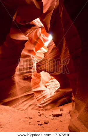 Beautiful Sandstone Rock Formations Of Antelope Canyon In Arizona