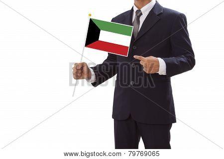 Businessman with Kuwaiti Flag