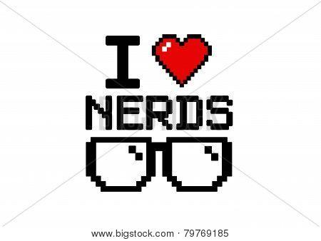 I Love nerds glasses