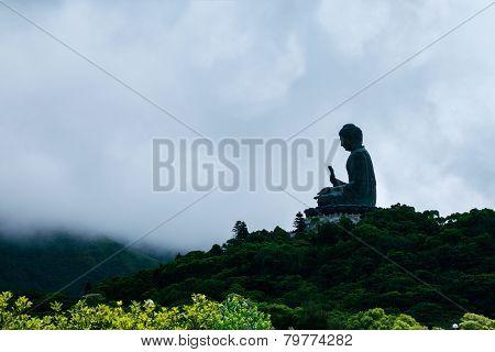 Big Buddha through Clouds, Hong Kong