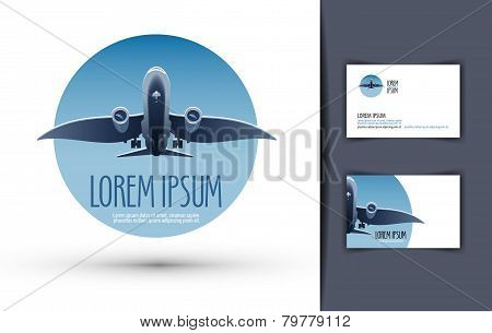 airplane vector logo design template. journey or travel icon.