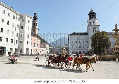 Residenzplatz In Slazburg