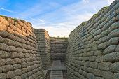 The trenches on battlefield of Vimy ridge France poster