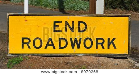 End Roadwork Traffic Sign