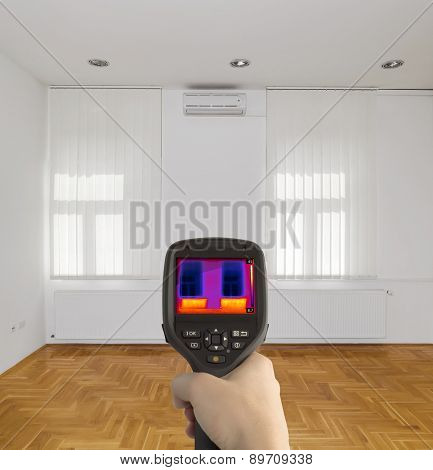 Radiator Heater Infrared Thermal Image poster