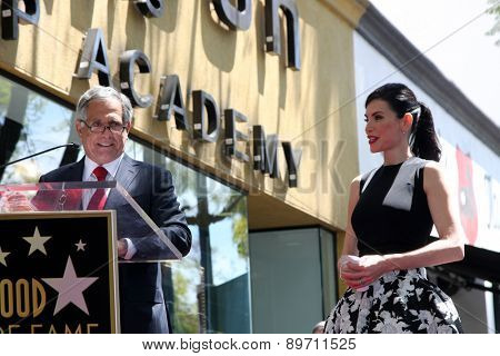 LOS ANGELES - MAY 1:  Les Moonves, Julianna Margulies at the Julianna Margulies Hollywood Walk of Fame Star Ceremony at the Hollywood Boulevard on May 1, 2015 in Los Angeles, CA