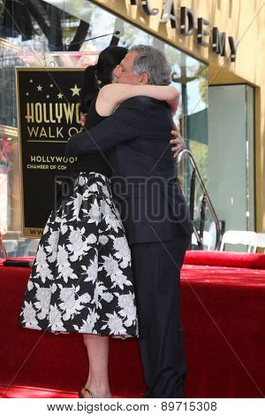 LOS ANGELES - MAY 1:  Julianna Margulies, Les Moonves at the Julianna Margulies Hollywood Walk of Fame Star Ceremony at the Hollywood Boulevard on May 1, 2015 in Los Angeles, CA