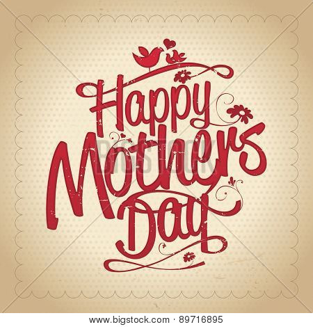 Happy Mothers's Day typographical design template.