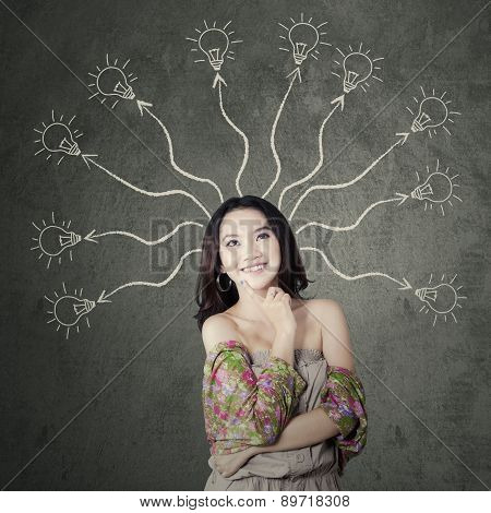 Teenage Girl With Branchy Mind