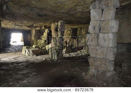 Winspit Quarry Caves