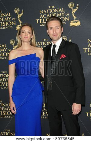 LOS ANGELES - APR 24: Ashlan Gorse, Philippe Cousteau at The 42nd Daytime Creative Arts Emmy Awards Gala at the Universal Hilton Hotel on April 24, 2015 in Los Angeles, California
