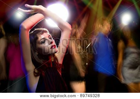 Intoxicated Woman at a Nightclub