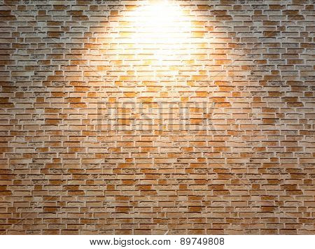 Enlighted brick wall