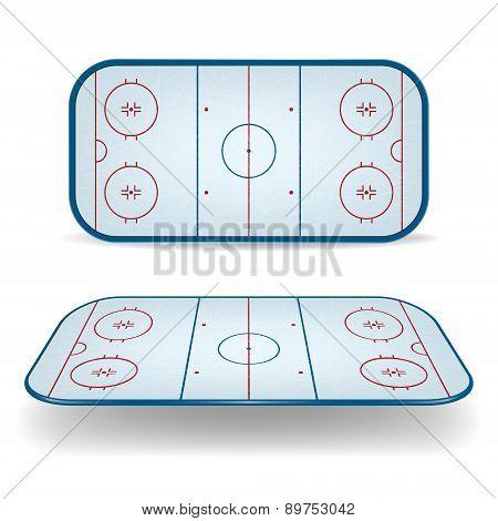 Set Of Ice Hockey Fields
