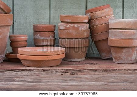 Old Flower Pots