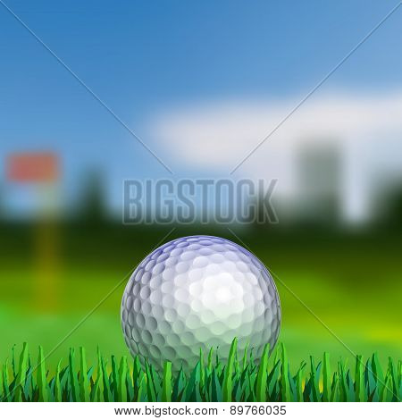 Golf Ball On Teeing Area