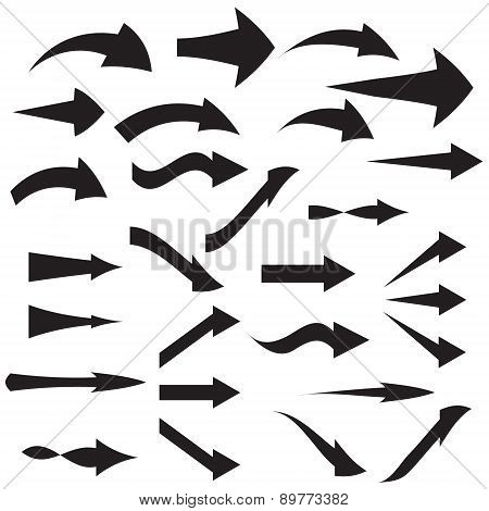 curved arrow icons Vector illustration